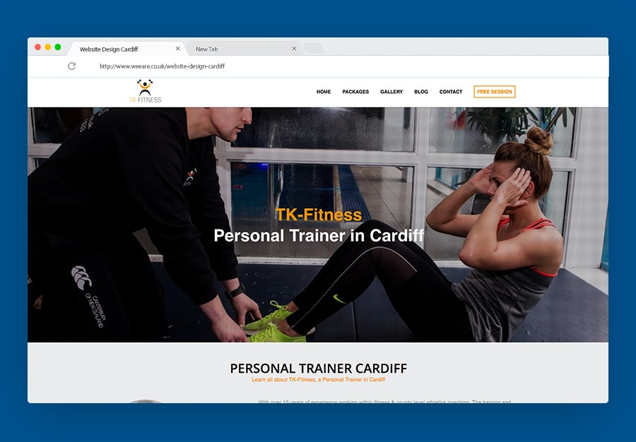 personal training web design